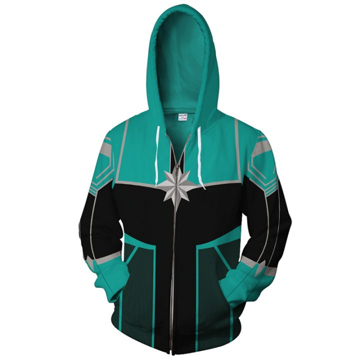 Captain Marvel Hoodie Jacket For Woman 2