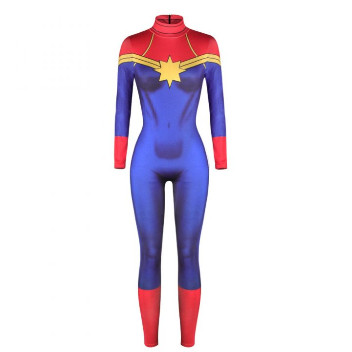 Captain Marvel Sexy Catsuit For Women 1