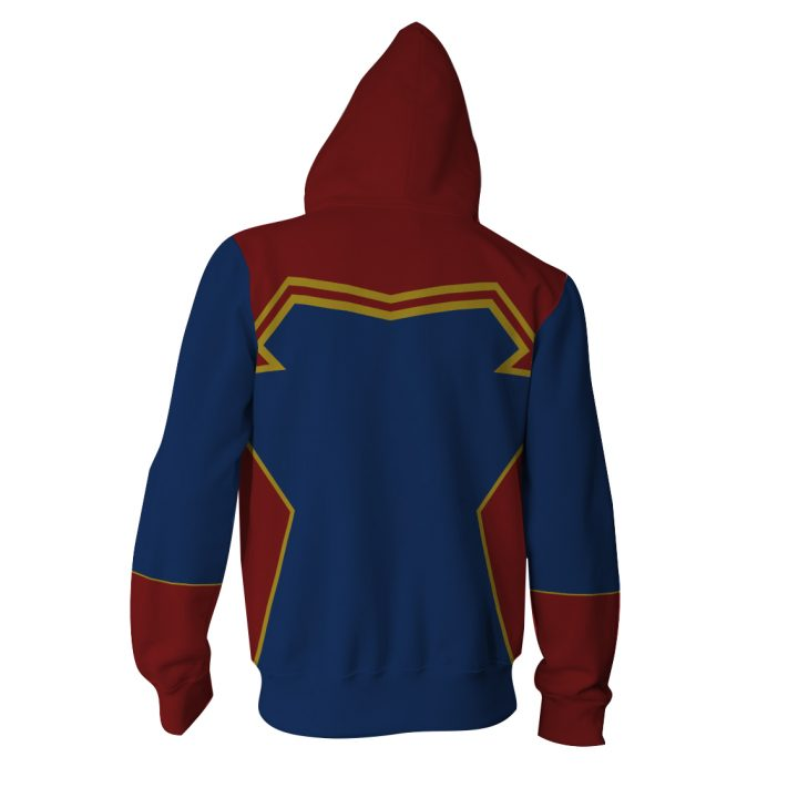 Captain Marvel Hoodie with Long Sleeves Zipper 3
