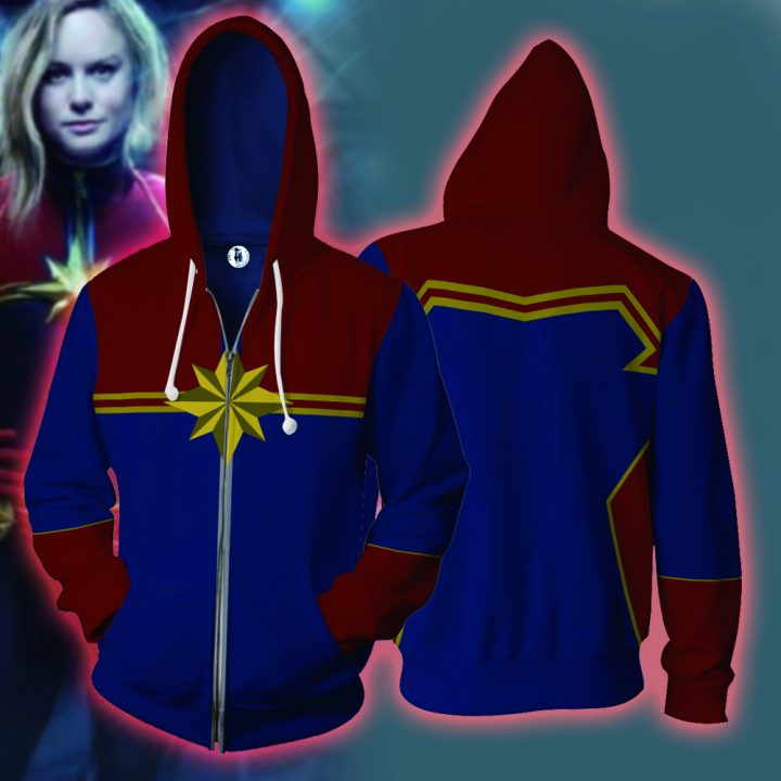 Captain Marvel Hoodie with Long Sleeves Zipper 5